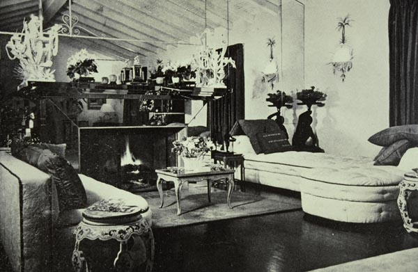 The drawing room of de Wolfe's Beverly Hills estate, After All.