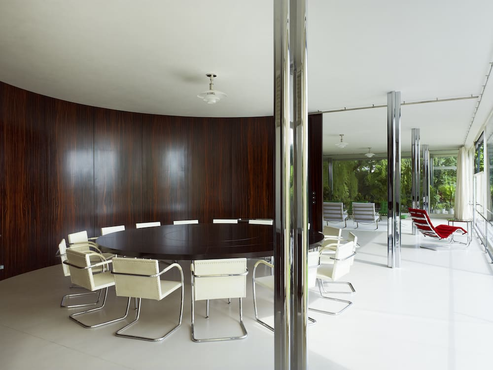 Dining room of Mies van der Rohe's Villa Tugendhat