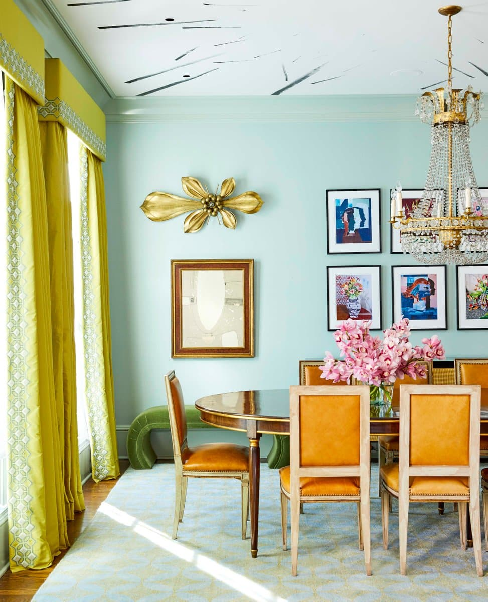 colorful dining room by Barrie Benson