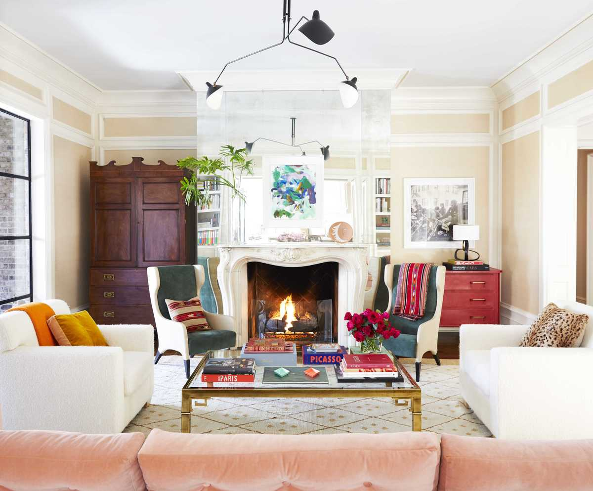 living room fireplace by Barrie Benson