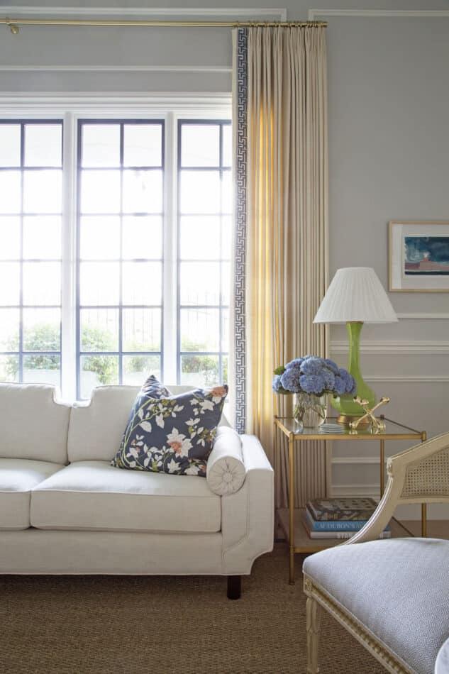 curtains with greek key border by Summer Thornton