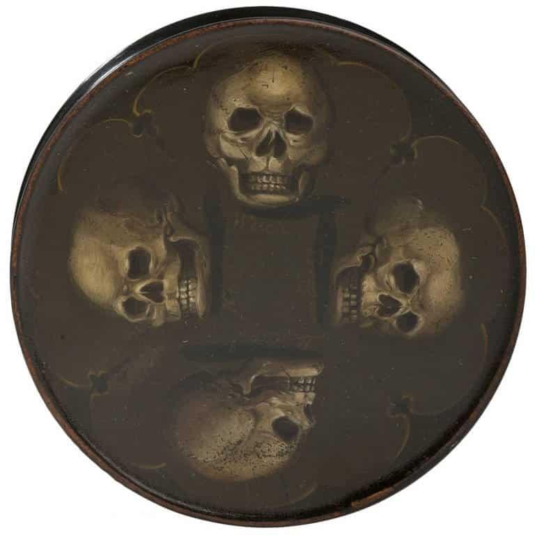 round box with skulls