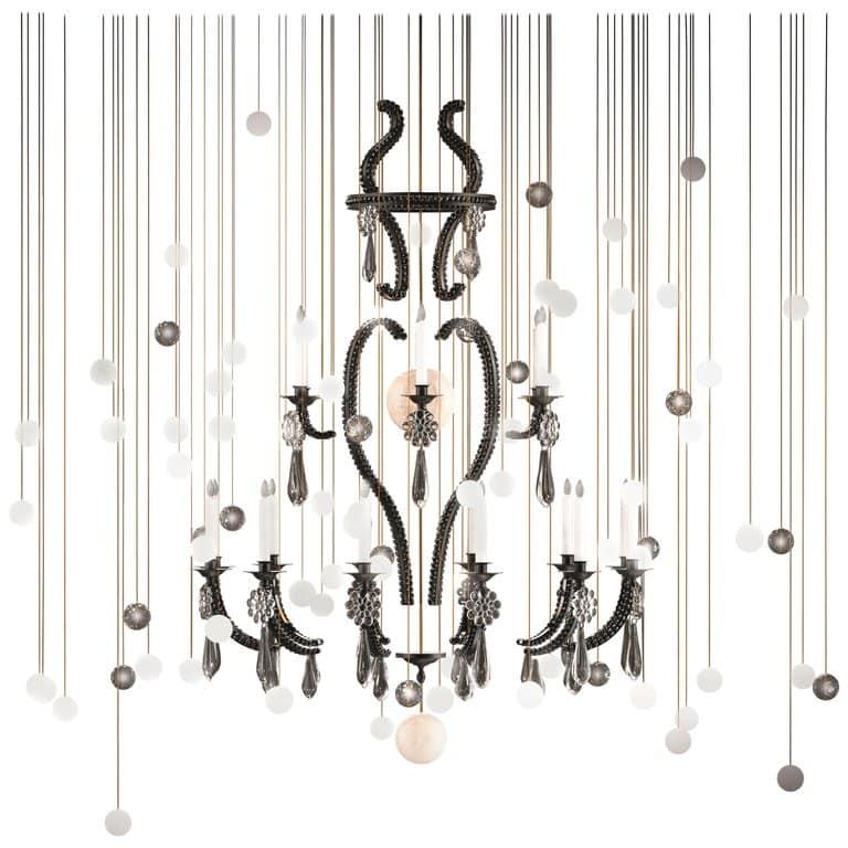 Beau & Bien Le Merveilleux Black chandelier