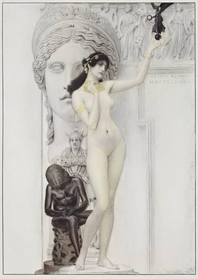 Allegory of Sculpture, 1889, by Gustav Klimt