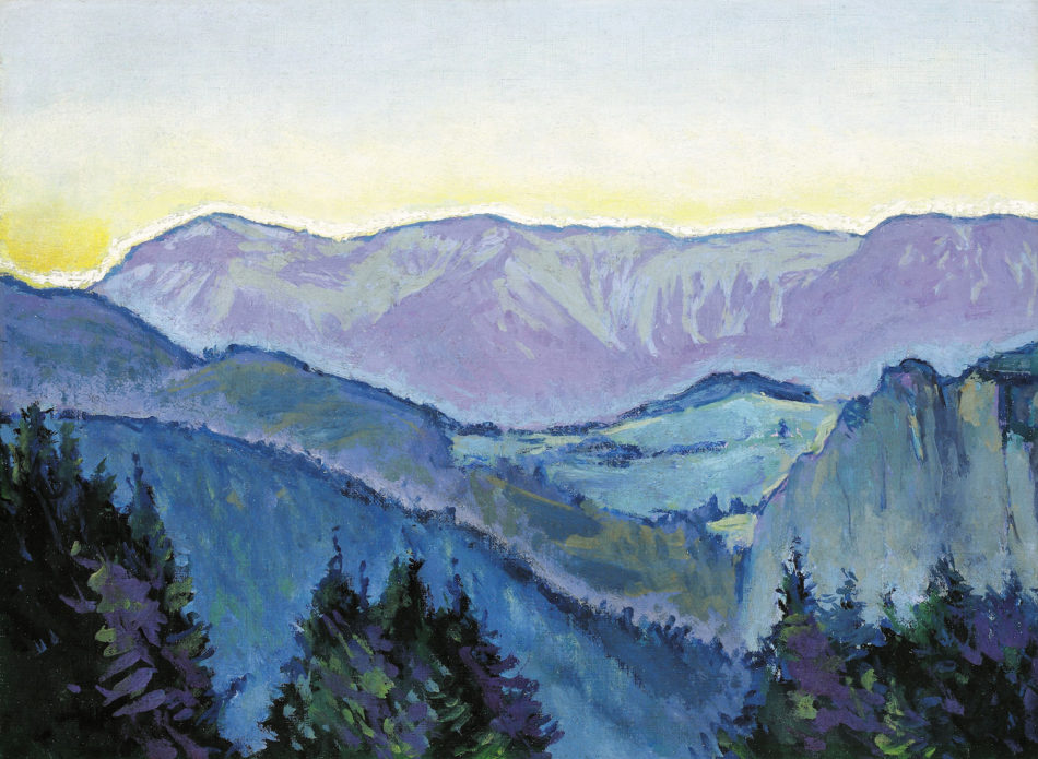 View of the Rax from the Villa Mautner v. Markhof in the Evening Light, 1913
