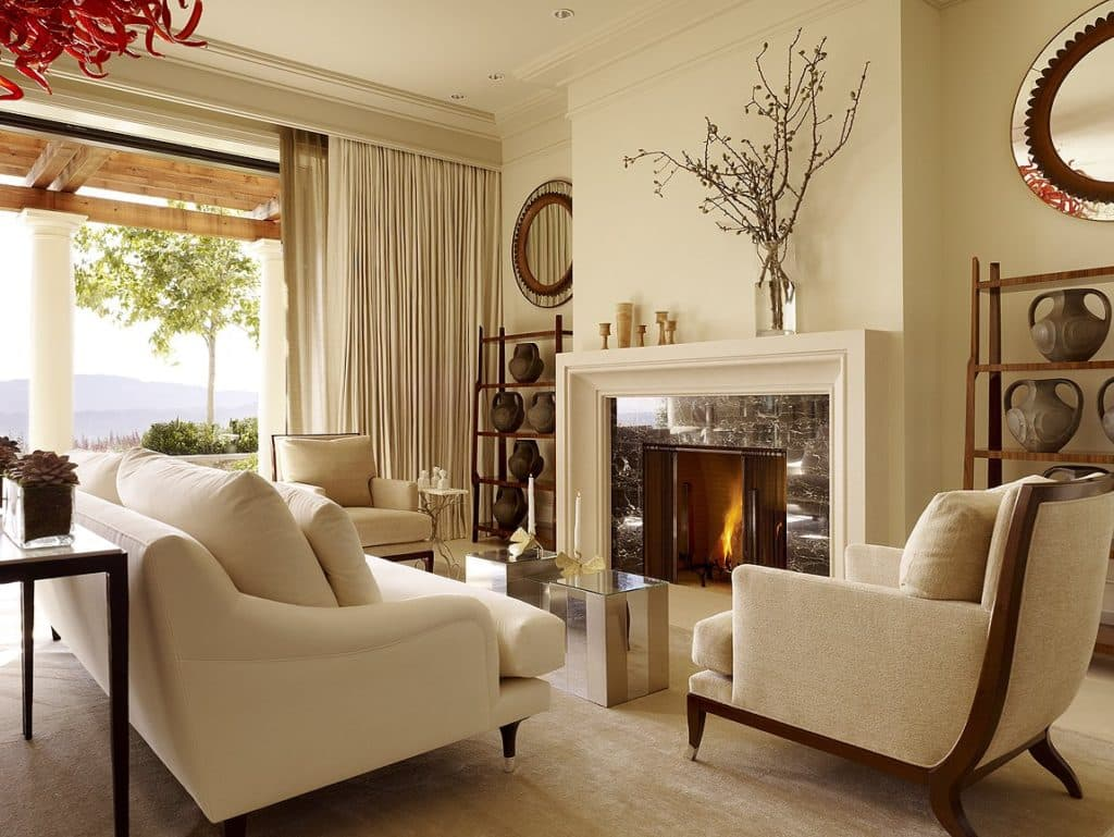 living room fireplace by the Wiseman Group
