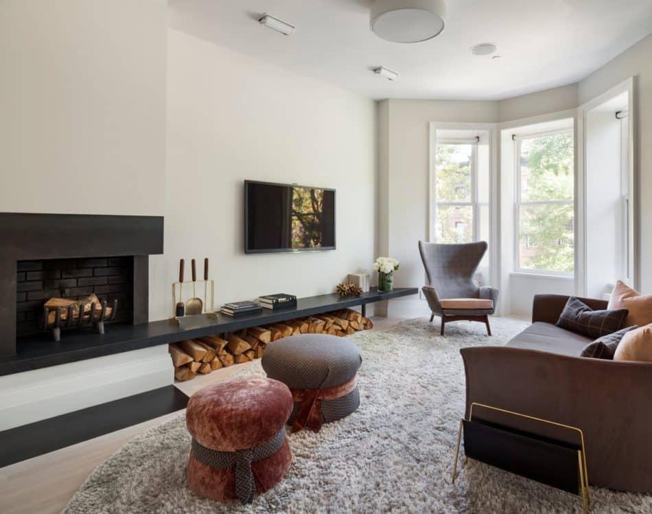 Brooklyn townhouse living room by Tamara Eaton