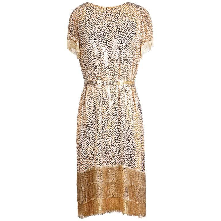 Norman Norell sequined dress