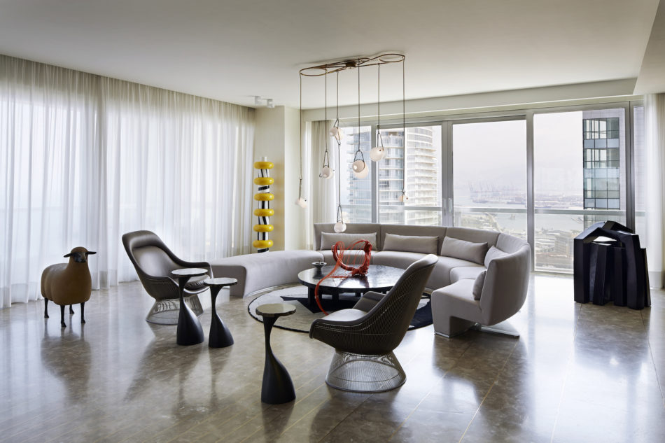 Beirut apartment reception room by Gatserelia Design