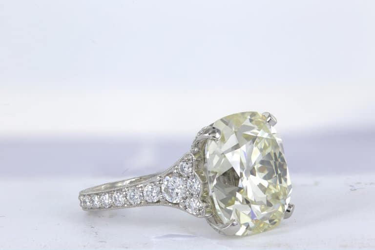 12.85 Carat Cushion Cut Diamond Ring by Shreve, Crump & Low