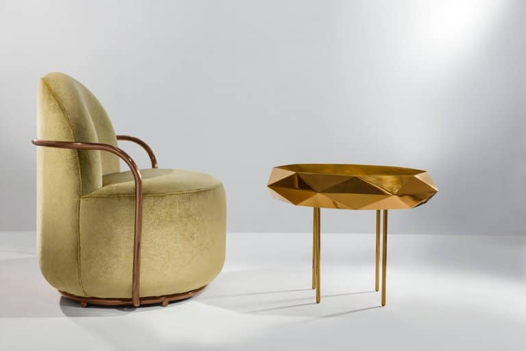 Nika Zupanc Orion lounge chair and Stella coffee table