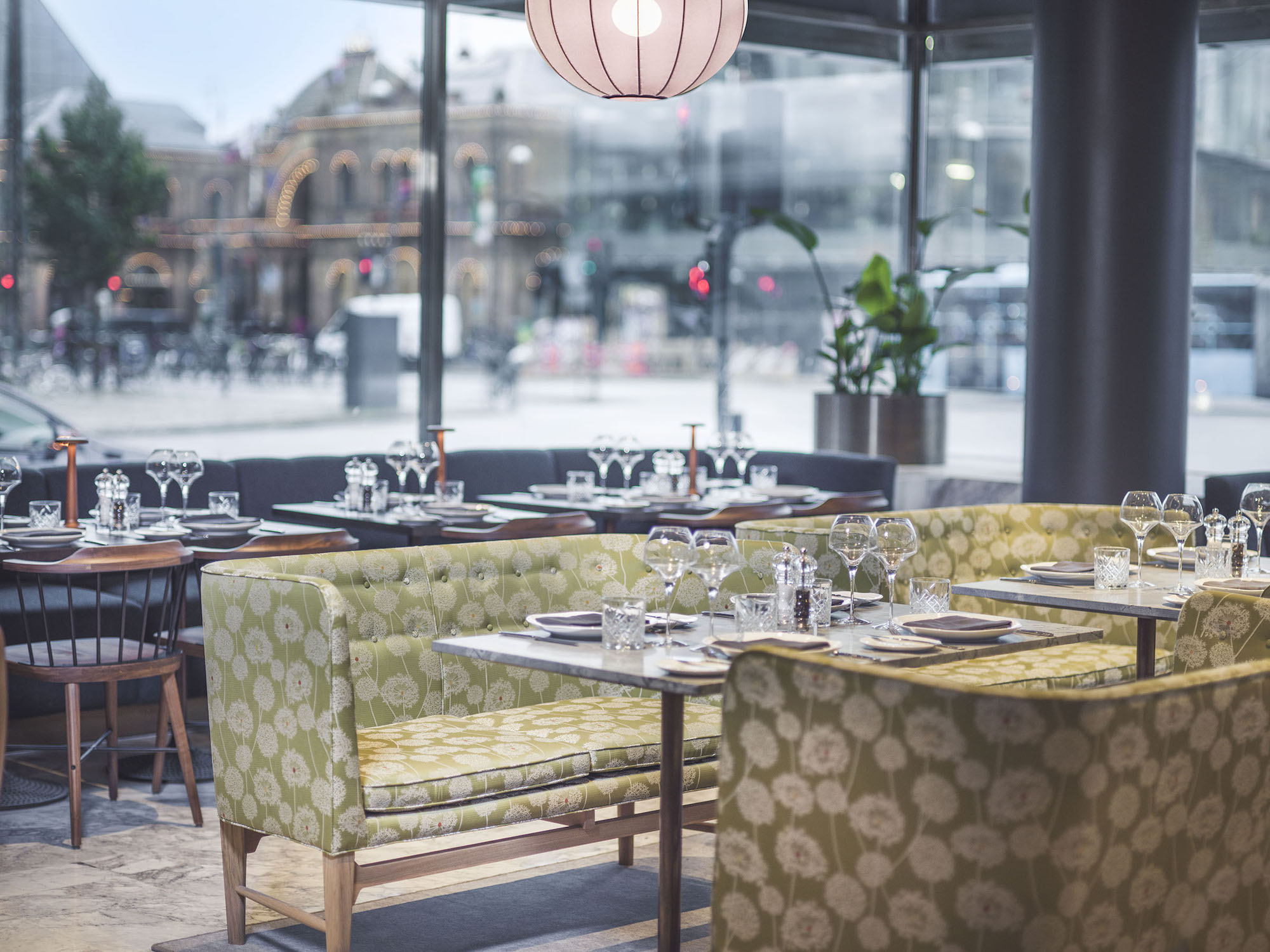 The Café Royal restaurant of the Radisson Blu Royal Hotel in Copenhagen designed by Arne Jacobsen