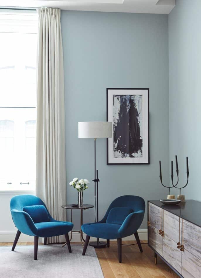 blue and white bedroom by Consort