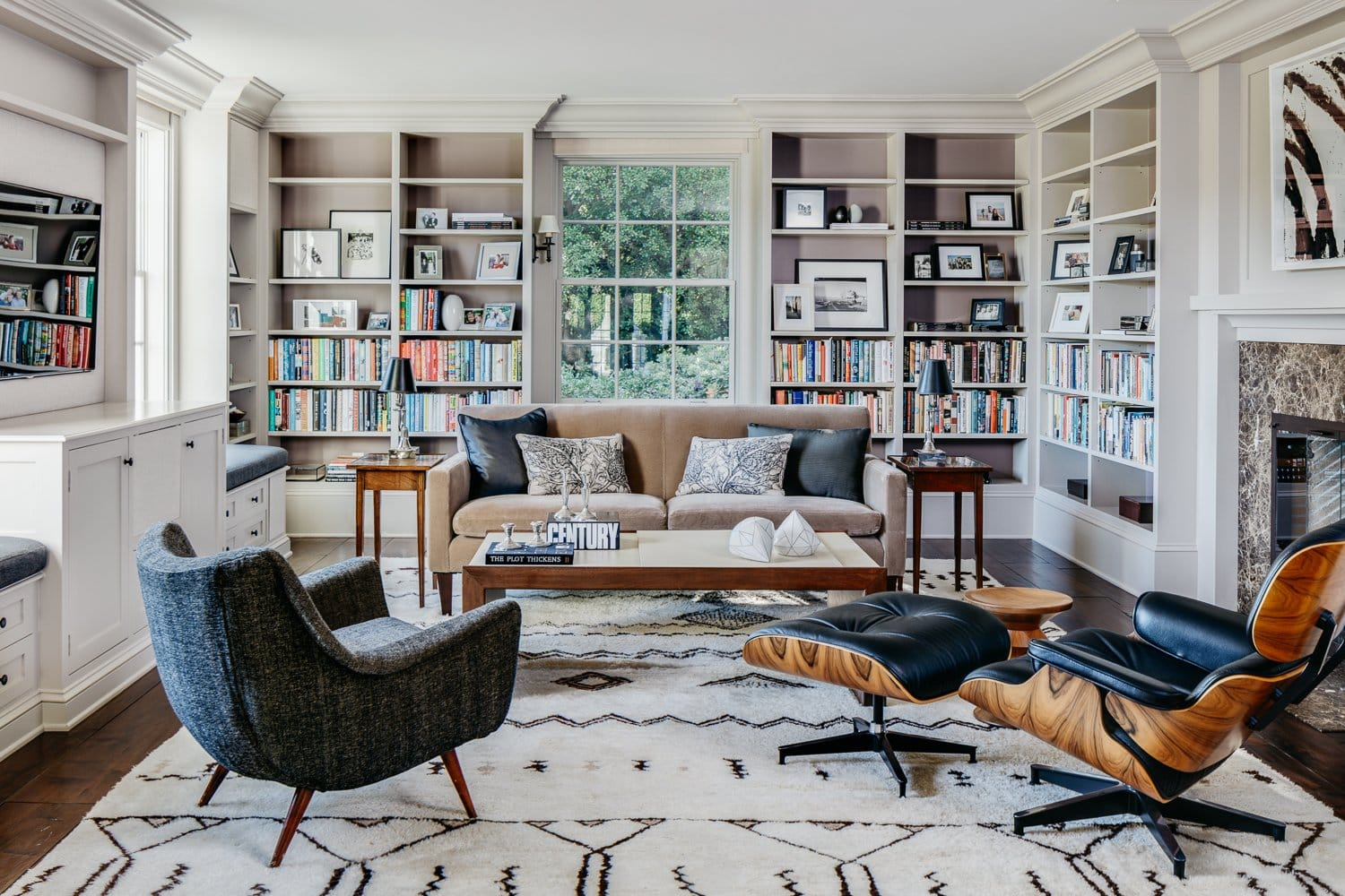 neutral living room by Eche