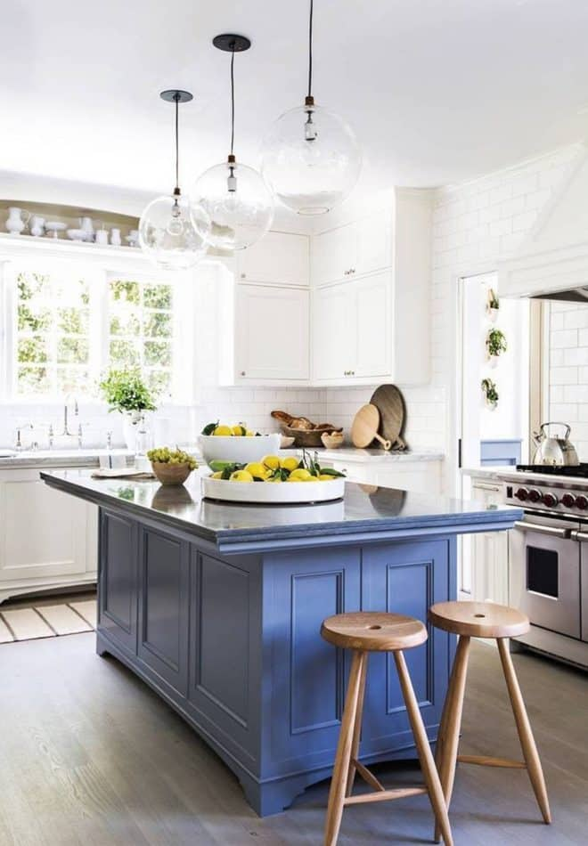 blue and white kitchen by Consort