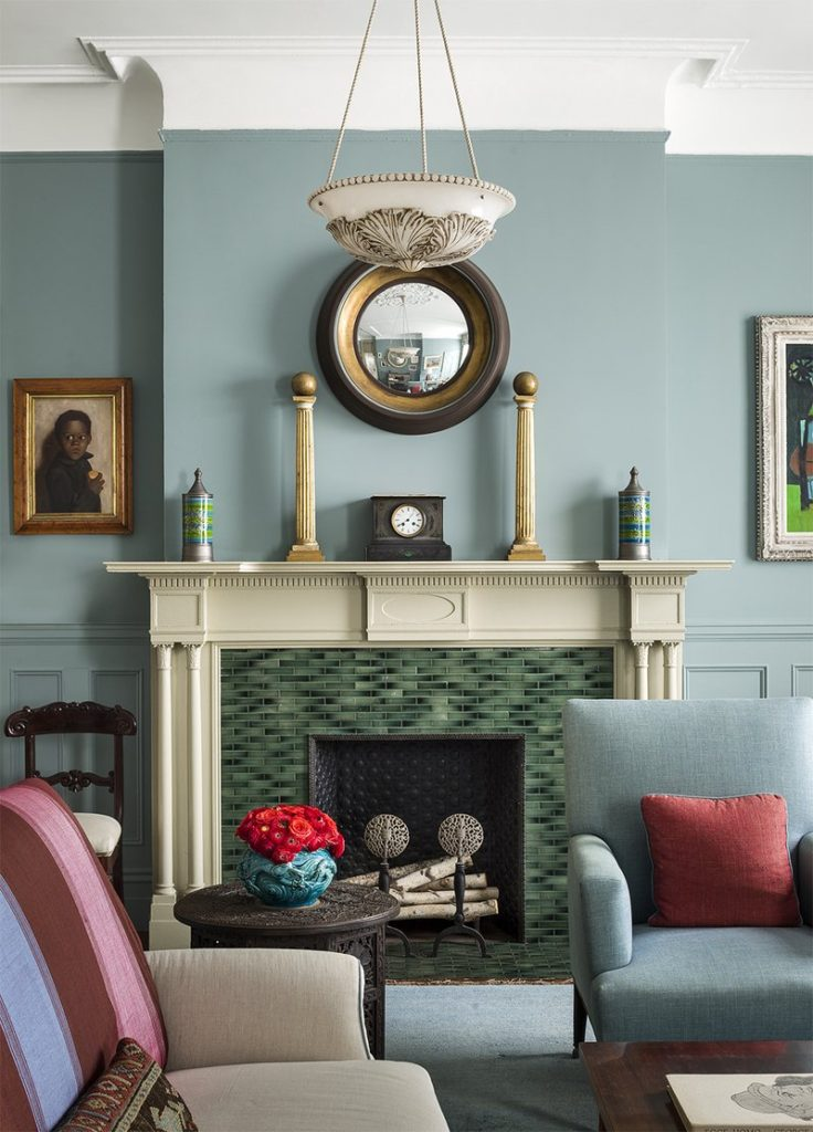 living room fireplace by Sheila Bridges