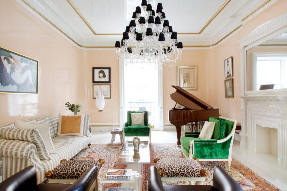 Sasha Bikoff living room