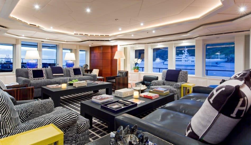 Diamond A yacht salon