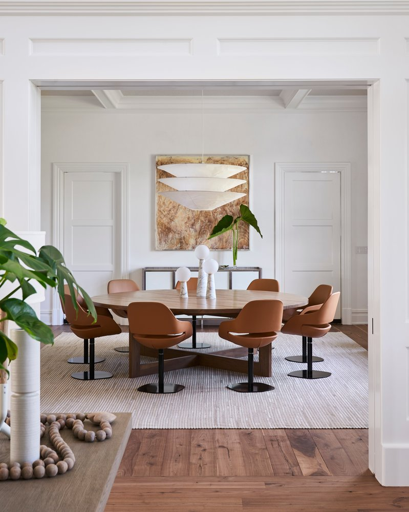 Timothy Godbold designed this dining room in Bridgehampton, New York, which also happened to be our most popular post on Instagram in September.