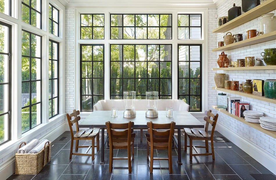 Kitchen designed by David Kleinberg and Martin Sosa for a house in Sag Harbor