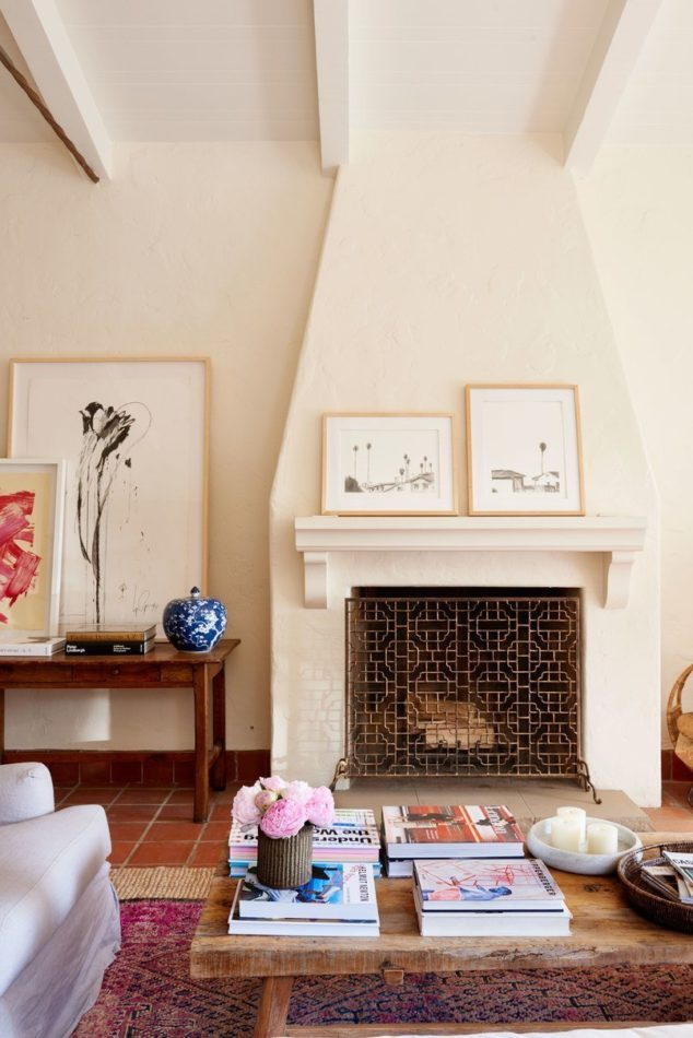 living room fireplace by Ellen Brill