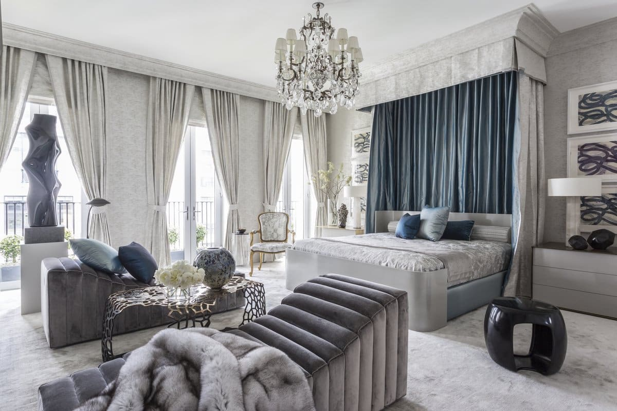 Drake/Anderson created this luxurious boudoir for the 2016 Kips Bay Show House.