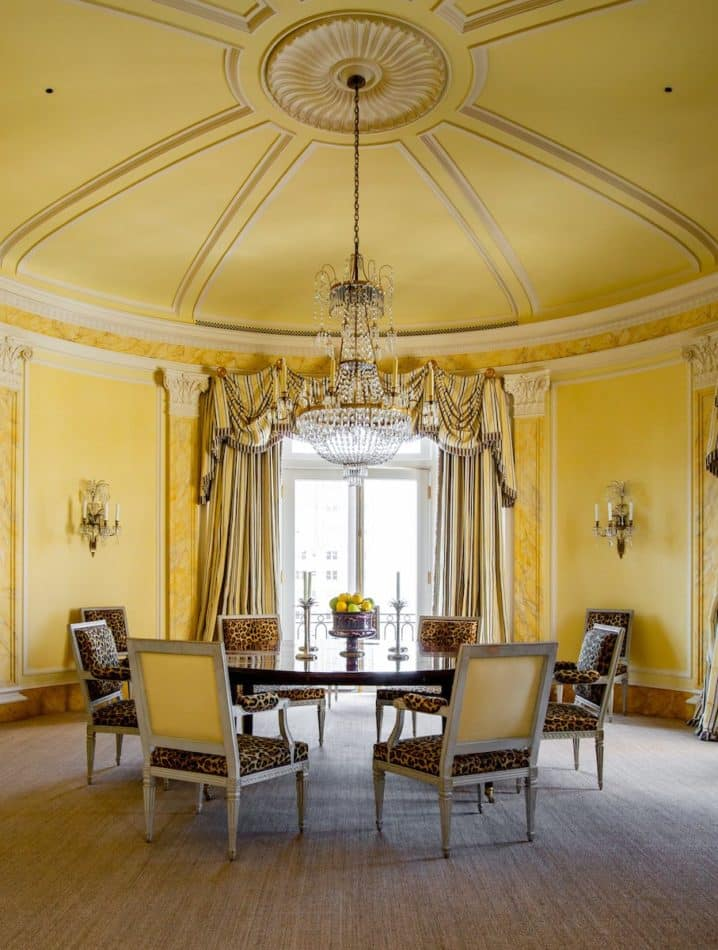 yellow dining room by Brian Murphy