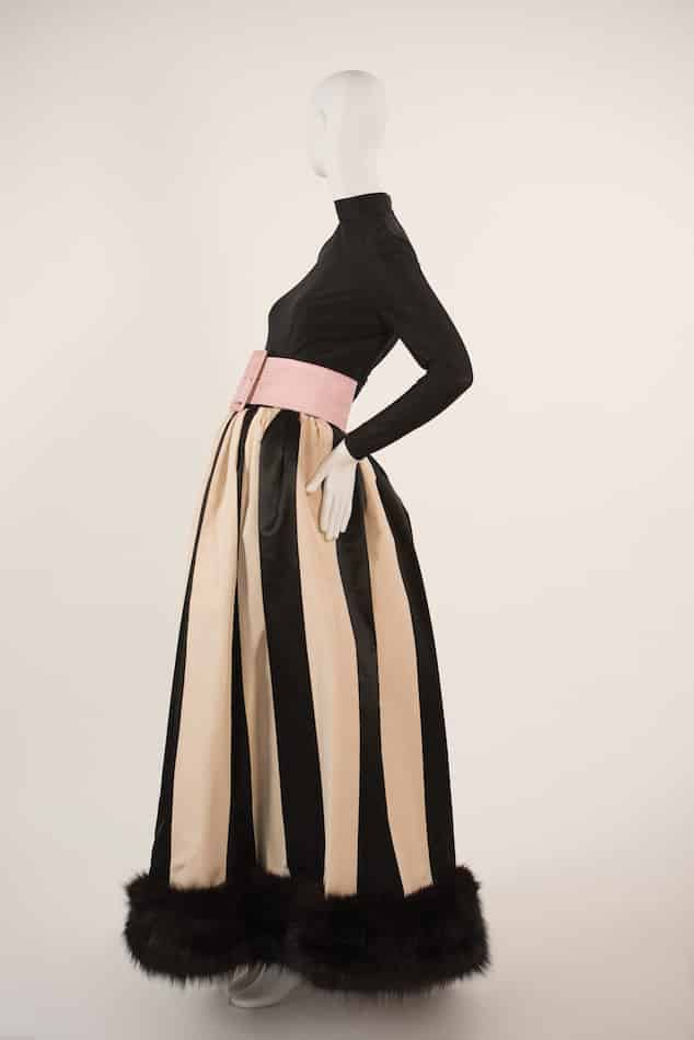 Norman Norell striped gown