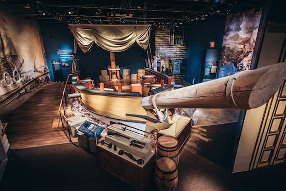 A Revolutionary War–era privateer ship has been re-created in the Museum of the American Revolution