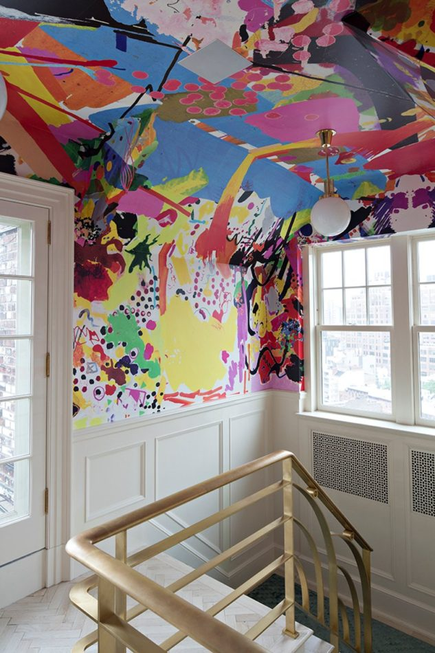 Greenwich Village stairway by Rafael De Cárdenas / Architecture at Large, with a mural by Assume Vivid Astro Focus.