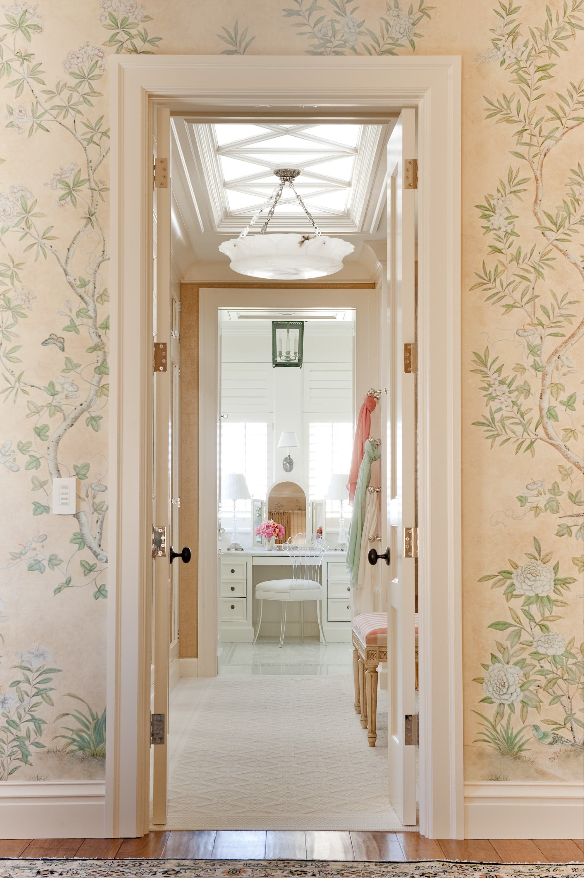 Dressing room in a Pacific Heights townhouse by Marks