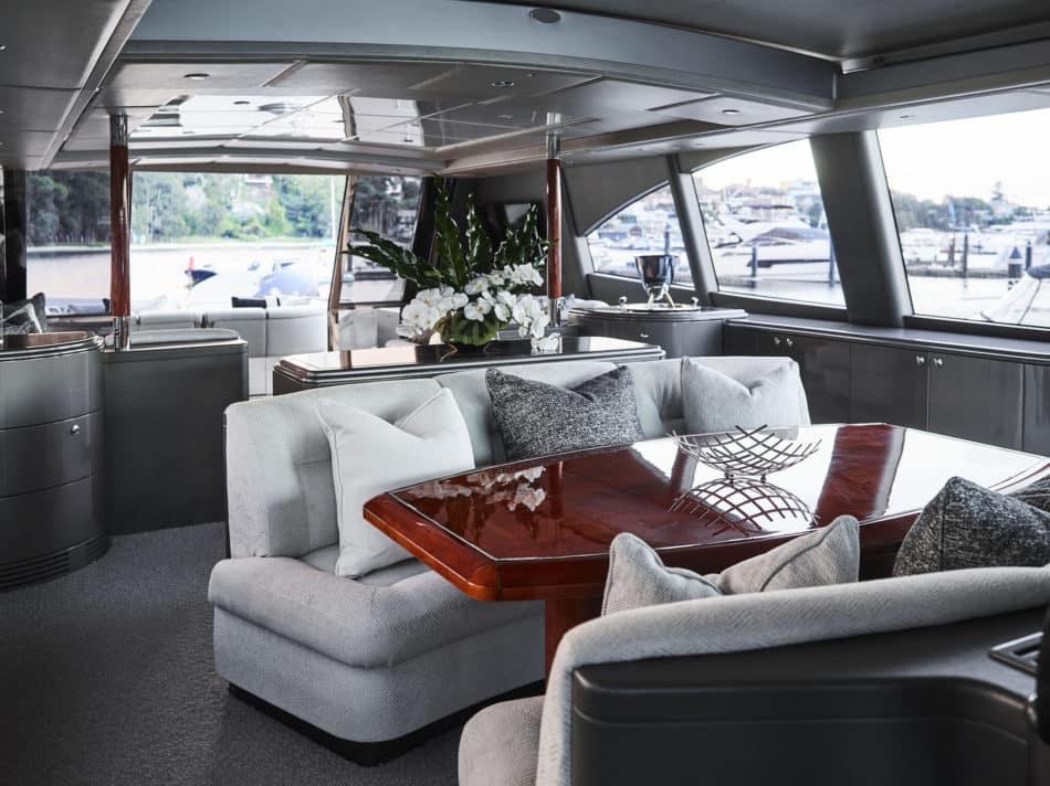 The Illusion yacht interior