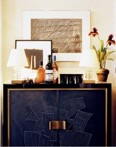 aerin-lauders-apartment-bar Jacques Grange