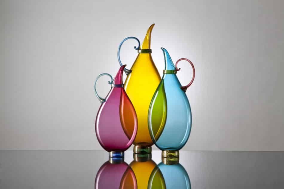 Vetro Vero blown-glass vases