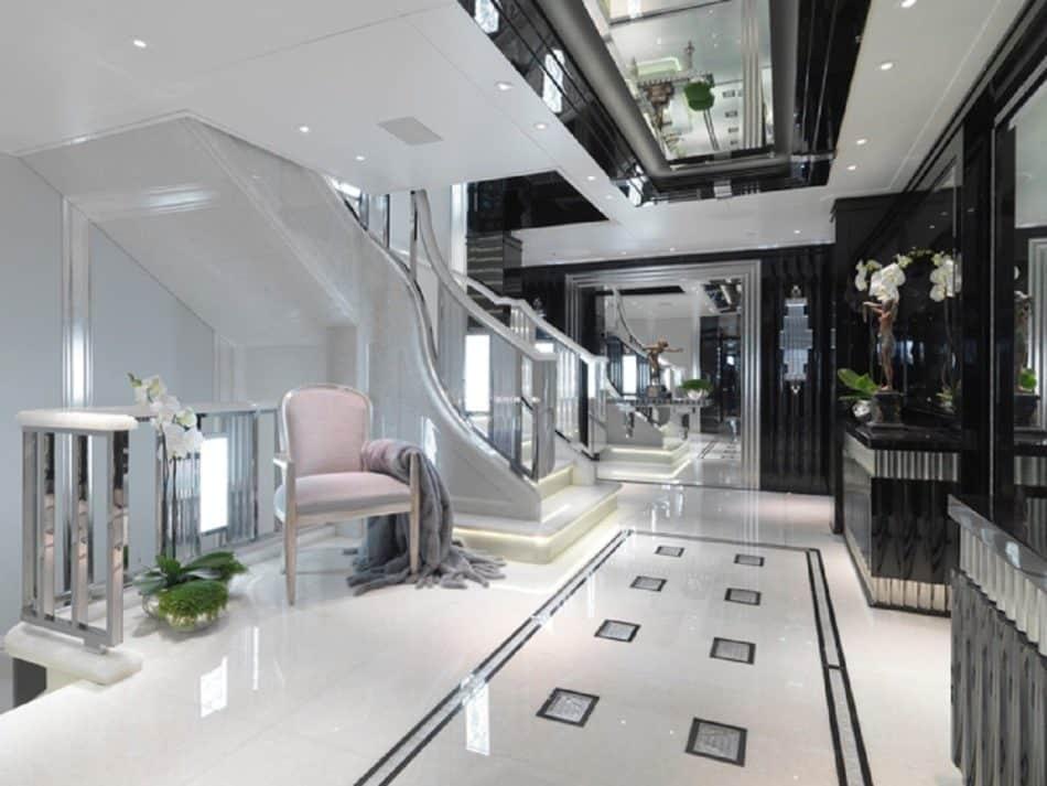 Silver Angel yacht entryway