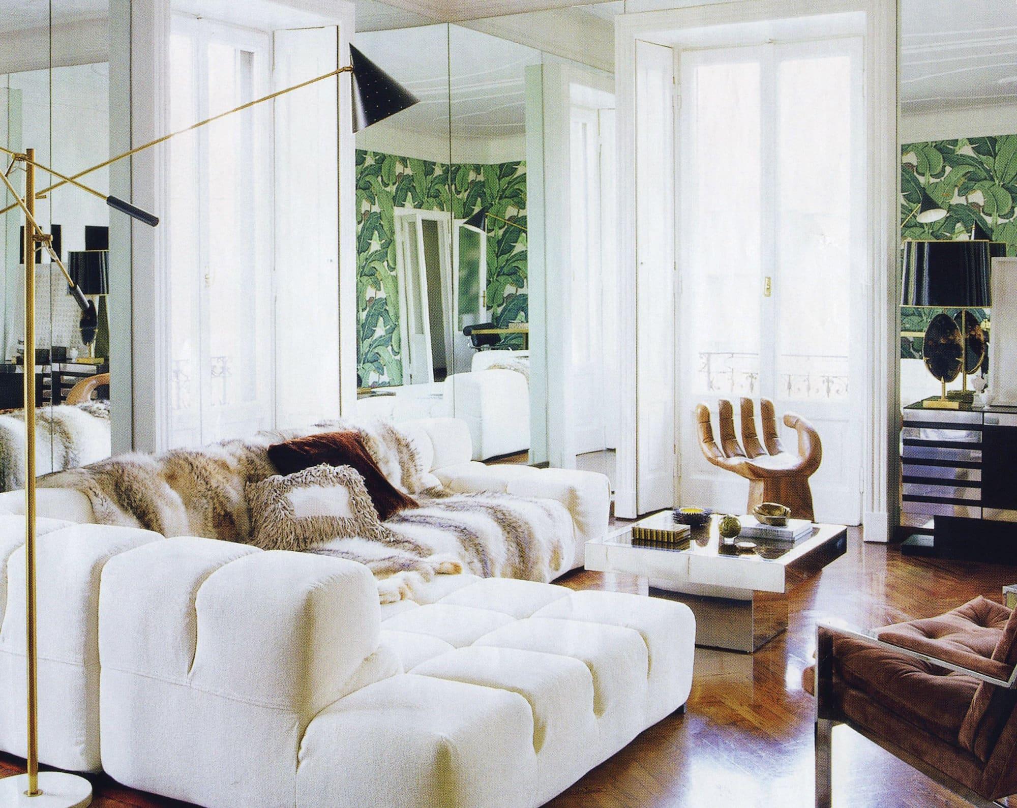Light-filled living room in Milan, designed by Nate Berkus