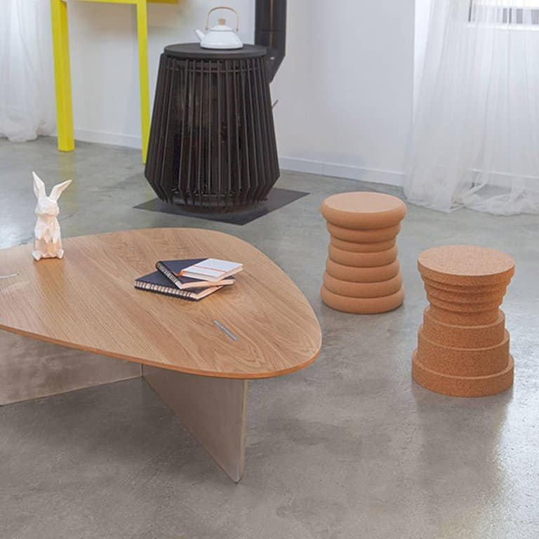 cork stools by Philippe Cramer for Le Point D