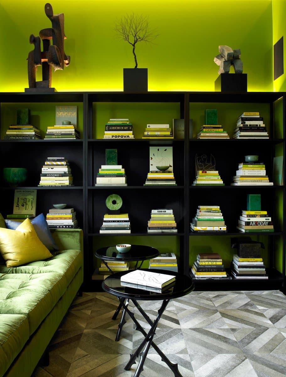 MR Architecture + Decor created this study in the tony Manhattan condo building One57.