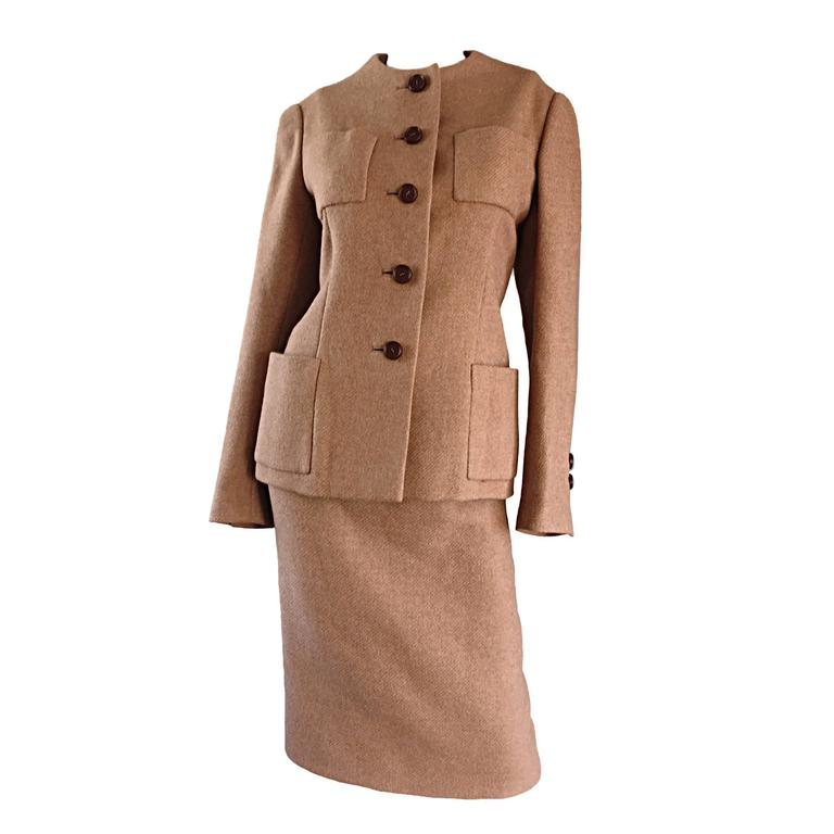 Norman Norell camel suit