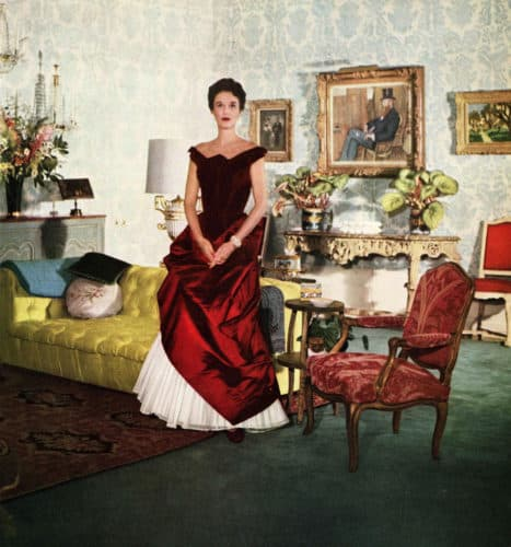 Babe Paley in her Baldwin-designed apartment in New York's St. Regis hotel.